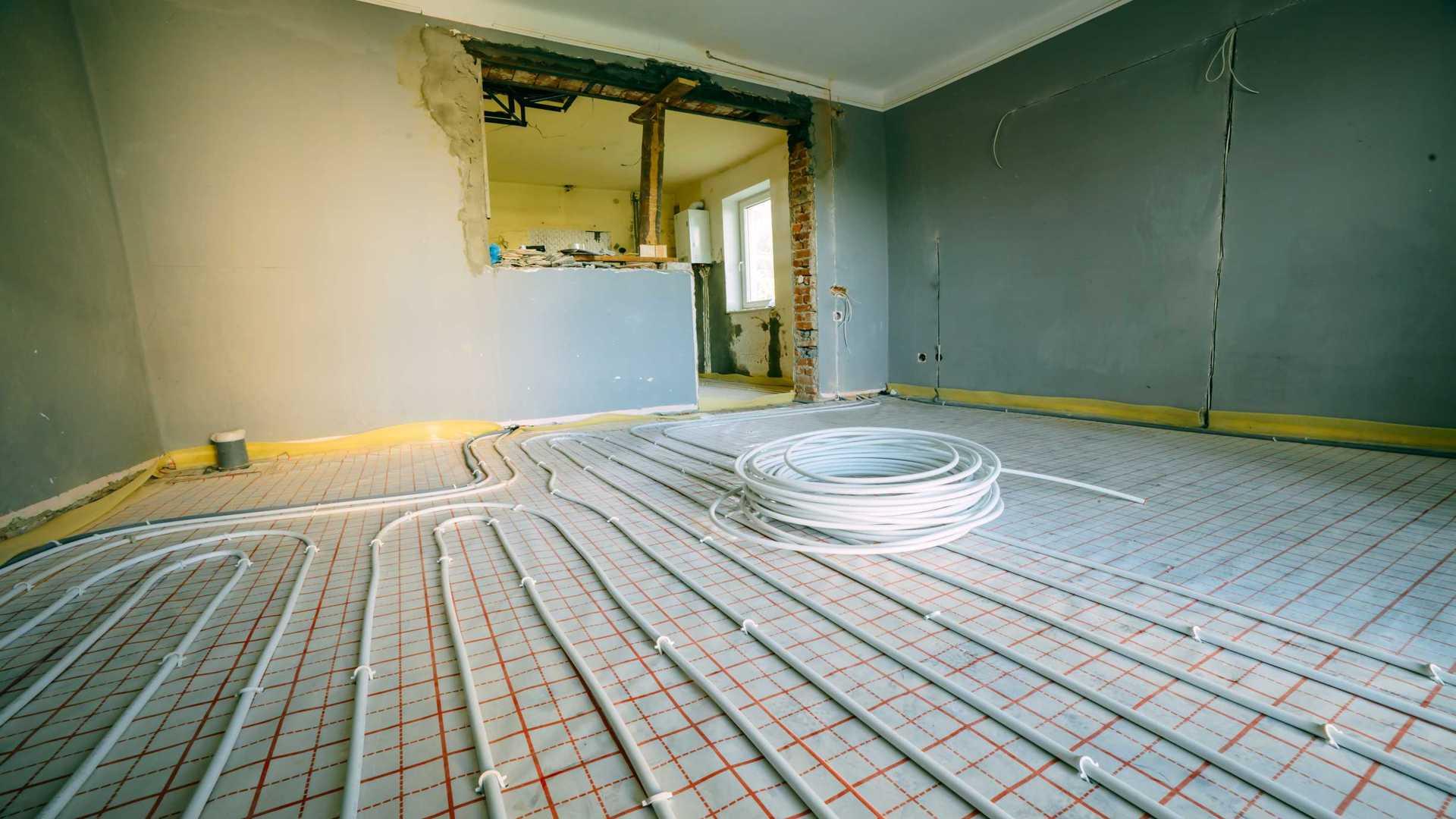 chantier plancher chauffant audit